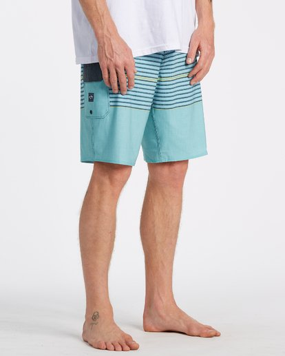 4 All Day Heather Stripe Pro Boardshorts Blue M1331BHP Billabong