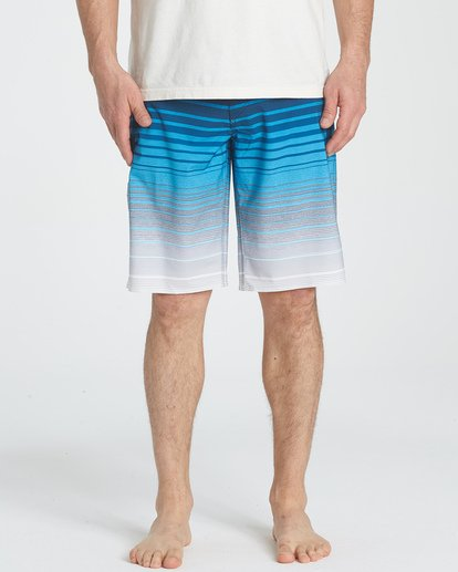 4 All Day Stripe Pro Boardshorts Blue M133TBAS Billabong