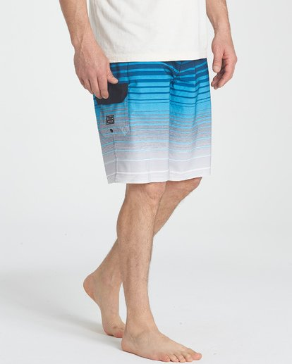 6 All Day Stripe Pro Boardshorts Blue M133TBAS Billabong