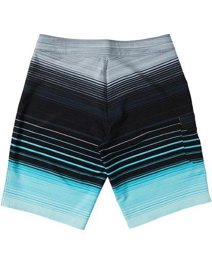 "3 All Day Stripe Pro Boardshort 20"" Green M1341BSP Billabong"