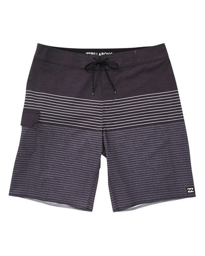 0 All Day Heather Stripe Pro Boardshorts Grey M134TBAH Billabong
