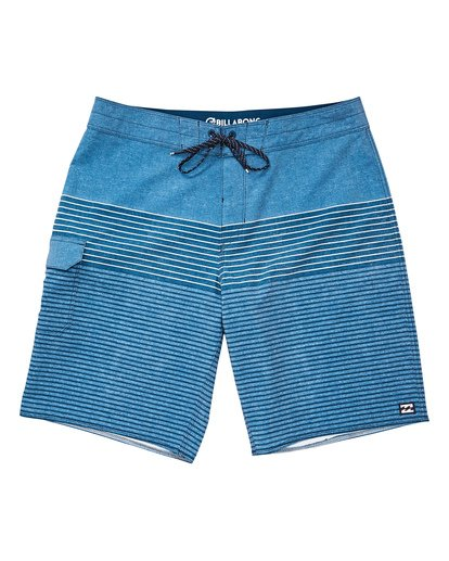 0 All Day Heather Stripe Pro Boardshorts Blue M134TBAH Billabong
