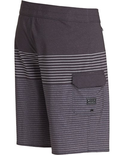 3 All Day Heather Stripe Pro Boardshorts Grey M134TBAH Billabong