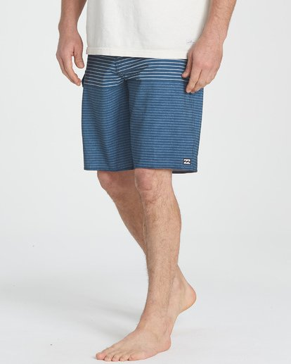 3 All Day Heather Stripe Pro Boardshorts Blue M134TBAH Billabong