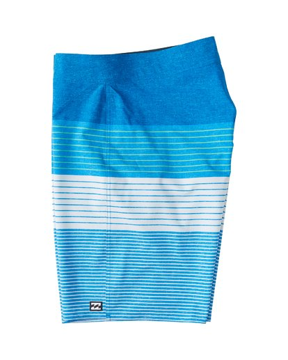 "2 All Day Heather Stripe Pro Boardshort 20"" Blue M134VBAH Billabong"