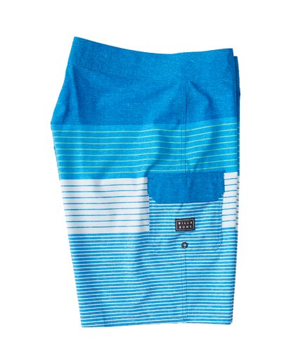 "3 All Day Heather Stripe Pro Boardshort 20"" Blue M134VBAH Billabong"