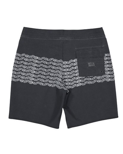 1 Wawaa Stripe Pro Boardshorts Black M135WBWR Billabong