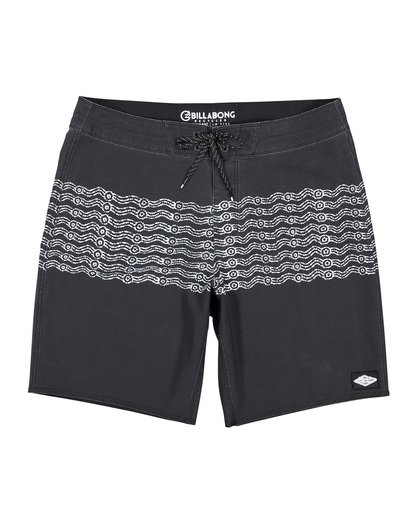 0 Wawaa Stripe Pro Boardshorts Black M135WBWR Billabong