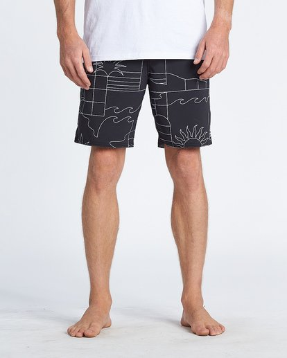 7 Sundays Lo Tides Boardshorts Black M1381BSL Billabong