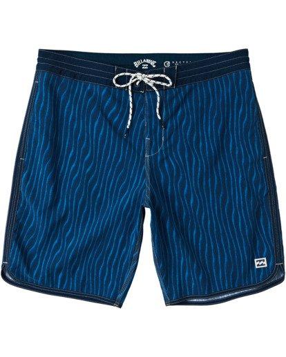 """0 73 Lo Tides Boardshorts 19"""" Blue M1391BSL Billabong"""