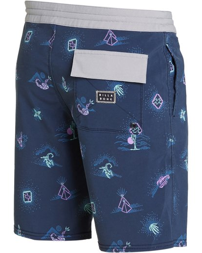 2 Sundays Lo Tides Boardshorts Purple M142NBSU Billabong