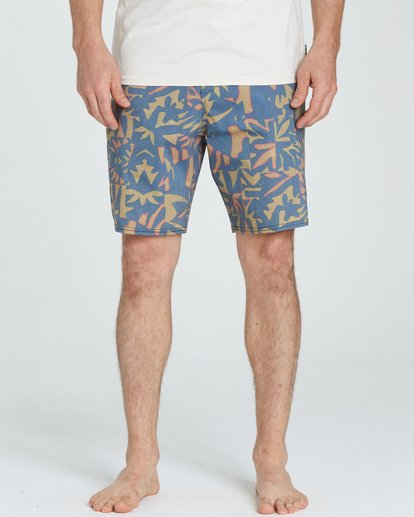 3 Sundays Lo Tides Boardshorts Yellow M142NBSU Billabong