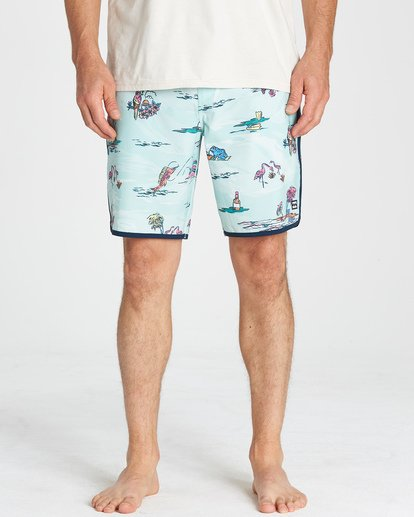 7 73 Lineup LT Boardshorts Green M143TBSL Billabong