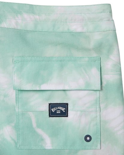 6 All Day Riot Lo Tides Boardshorts Green M1451BRL Billabong