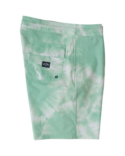 "3 All Day Riot Lo Tides Boardshort 19"" Green M1451BRL Billabong"
