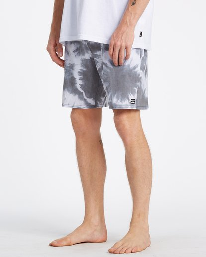 3 All Day Riot Lo Tides Boardshorts White M1451BRL Billabong