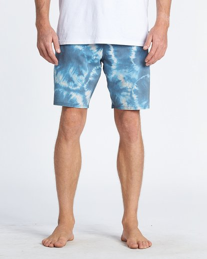 7 All Day Riot Lo Tides Boardshorts Blue M1451BRL Billabong