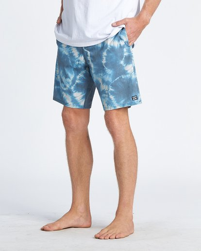 8 All Day Riot Lo Tides Boardshorts Blue M1451BRL Billabong