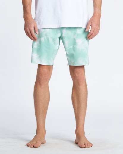 7 All Day Riot Lo Tides Boardshorts Green M1451BRL Billabong
