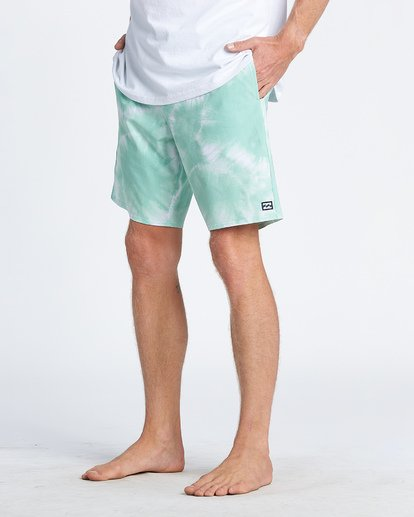 8 All Day Riot Lo Tides Boardshorts Green M1451BRL Billabong