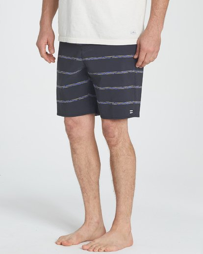 3 Sundays Stripe LT Boardshorts Grey M146UBLS Billabong