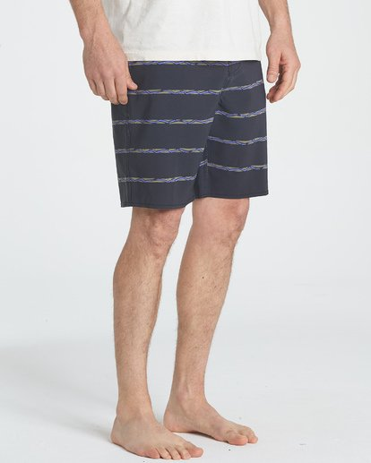 4 Sundays Stripe LT Boardshorts Grey M146UBLS Billabong