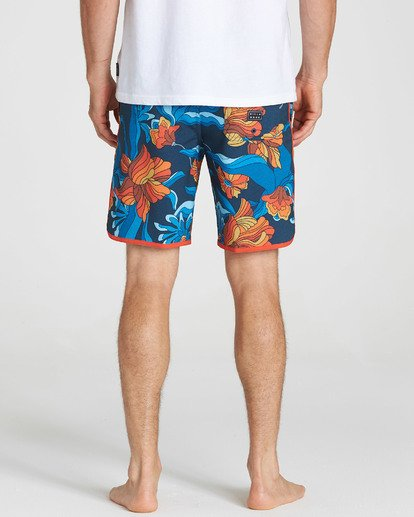 4 73 Lo Tides Lineup Boardshorts Orange M147NBST Billabong