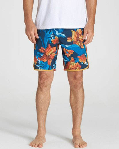 3 73 Lo Tides Lineup Boardshorts Orange M147NBST Billabong