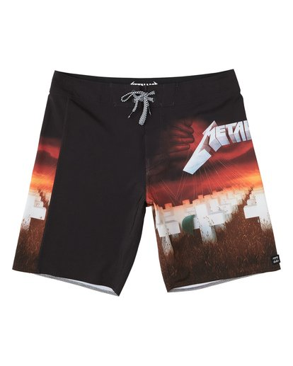 0 Metallica Master of Puppets Boardshorts Red M1531BMP Billabong