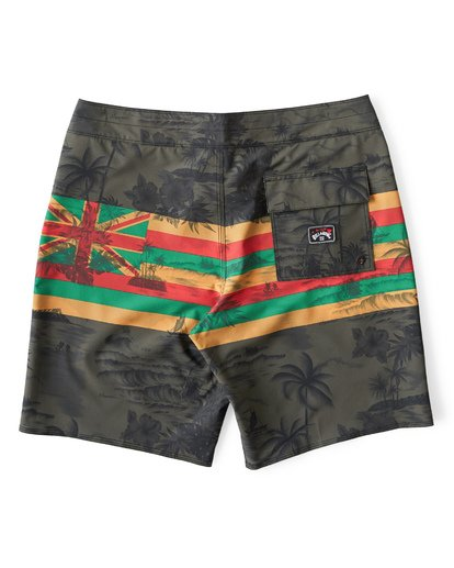 1 Tribong Pro Hawaii Boardshorts Green M153VBTP Billabong