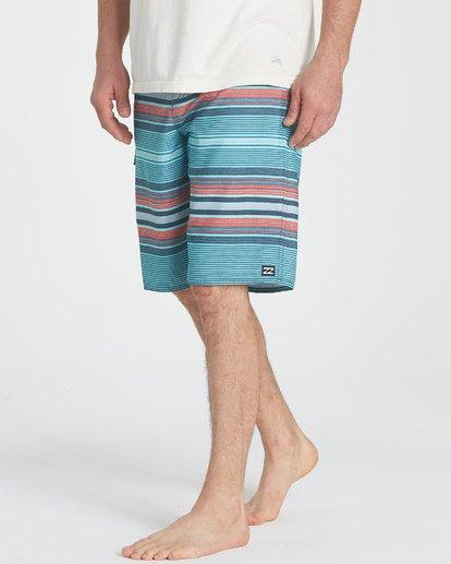 3 All Day Stripe OG Boardshorts Blue M160TBAD Billabong