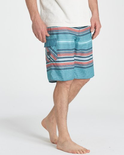 4 All Day Stripe OG Boardshorts Blue M160TBAD Billabong