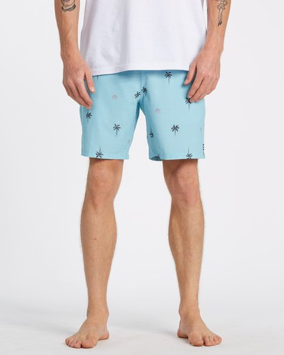 "2 Sundays Layback Boardshort 17"" Blue M1801BSB Billabong"