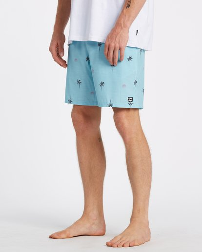 "3 Sundays Layback Boardshort 17"" Blue M1801BSB Billabong"