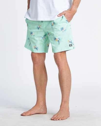 3 Sundays Layback Boardshorts Green M1801BSB Billabong