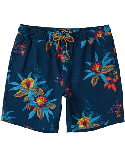 "0 Sundays Layback Boardshort 17"" Blue M1803BSB Billabong"