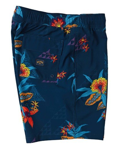 "3 Sundays Layback Boardshort 17"" Blue M1803BSB Billabong"
