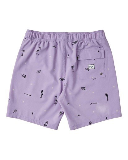 "1 Sundays Layback Boardshort 17"" Purple M1803BSB Billabong"