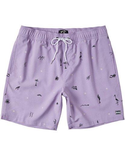 "0 Sundays Layback Boardshorts 17"" Purple M1803BSB Billabong"