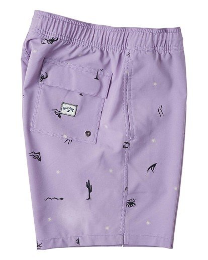 "3 Sundays Layback Boardshort 17"" Purple M1803BSB Billabong"