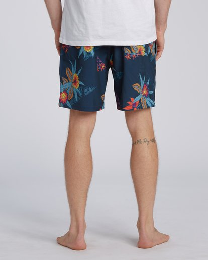 "7 Sundays Layback Boardshort 17"" Blue M1803BSB Billabong"