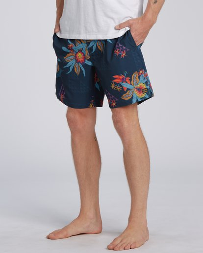 "6 Sundays Layback Boardshort 17"" Blue M1803BSB Billabong"