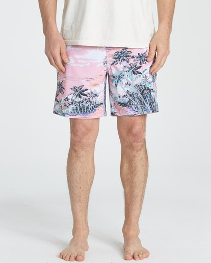 2 Sundays Layback Boardshorts Pink M180TBSU Billabong