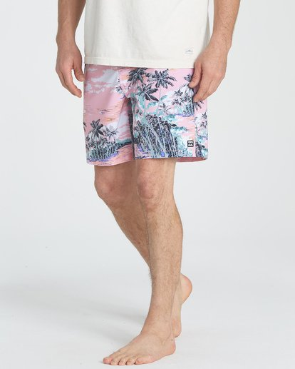 3 Sundays Layback Boardshorts Pink M180TBSU Billabong