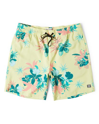 0 Sundays Layback Boardshorts Yellow M180VBSU Billabong