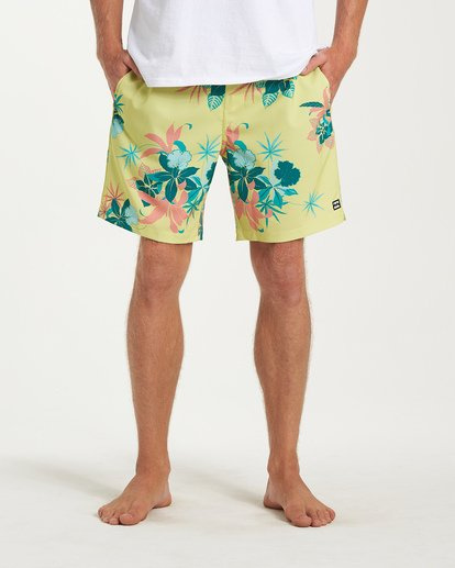 6 Sundays Layback Boardshorts Yellow M180VBSU Billabong