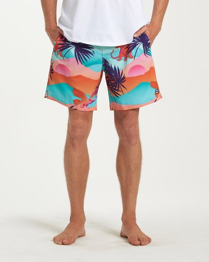 6 Sundays Layback Boardshorts Green M180VBSU Billabong