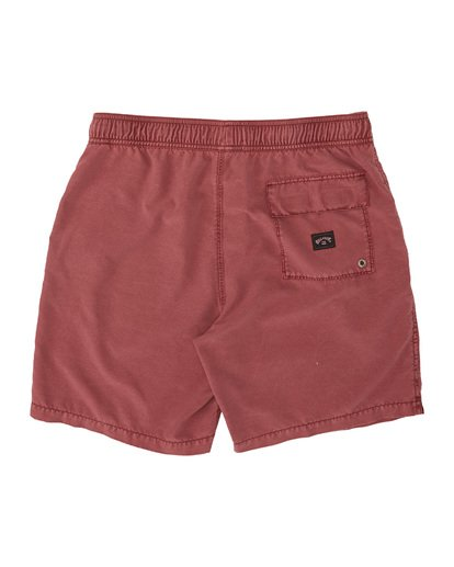 "1 All Day Overdye Layback Boardshorts 17"" Red M1821BAB Billabong"