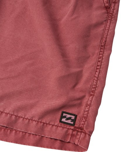 "5 All Day Overdye Layback 17"" Boardshort Red M1821BAB Billabong"