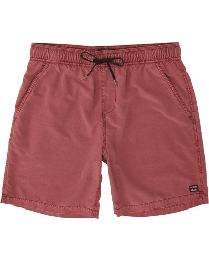 "0 All Day Overdye Layback 17"" Boardshort Red M1821BAB Billabong"